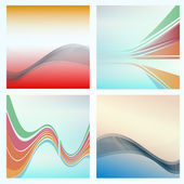 Abstract background of colorful waves — Stock Vector