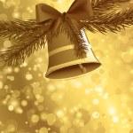 Christmas card background golden — Stock Vector