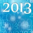 Vector New Year card 2013 blue background — Vettoriali Stock