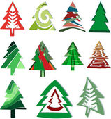 Icons Christmas trees — Stock Vector
