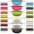 Colorful vector bookmarks stickers 2013 — Image vectorielle
