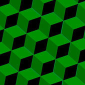 Abstract background with green squares — Stok Vektör