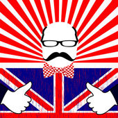 Vector día británico — Vector de stock