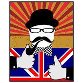Giorno britannico — Vettoriale Stock