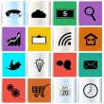 Set modern web icons — Stock Vector