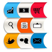 Set design trend set icons — Stock Vector