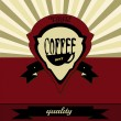 Retro coffee label — Stock Vector #34564803