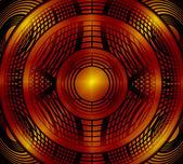 круг красный абстрактный фон — Стоковое фото