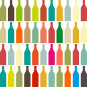 Background with bottles — Stock Vector