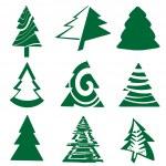 Christmas tree set — Stock Vector #36997009