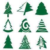 Christmas tree set — Stock Vector