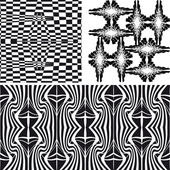 Patterns different vector seamless — Stock Vector