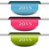 Set di adesivi e di etichette distintivi — Vettoriale Stock