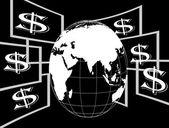 Dollar flying — Stock Vector