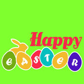 Happy Easter egg card — Stock Vector