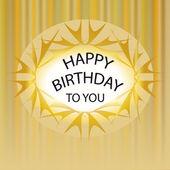 Gold Happy birthday — Stock Photo