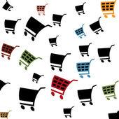 Cart pattern — Vettoriale Stock