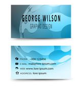 Business card blue — Stock Vector
