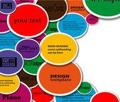 Etiket kağıdı infographics — Stok Vektör