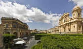 View of the city of Noto — Stock Photo