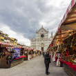 Christmas Market in Florence — 图库照片