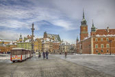 View of Castle Real square in Warsaw — Stock Photo