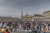 St. Peter's Square on Palm Sunday — Stock Photo