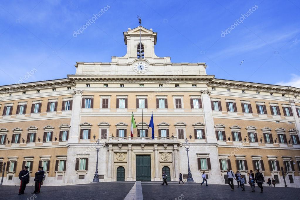 Montecitorio el parlamento italiano foto editorial de for Roma parlamento