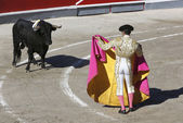 Bullfighter in the ring — Stock Photo