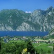 Garda Lake with Alps in a Sunny Day, Italy — Stock Photo #22302119