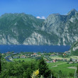 Garda Lake with Alps  in a Sunny Day, Italy — Stock Photo