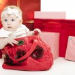 Foto Stock: Christmas baby girl