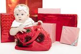 Noel kız bebek — Stok fotoğraf