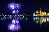 Christmas atmosphere in Prague, Czech Republic — Stock Photo