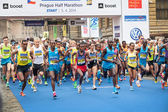 Prague, Czech  Republic, April, 2014, Half Marathon Praha — Stock Photo