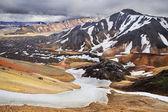 Landmannalaugar, rhyolite colour mountains of Iceland — Stock Photo