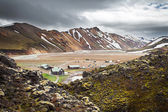 Landmannalaugar Camping, Iceland — Stock Photo