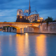 Notre Dame de Paris at sunset — Stock Photo #51026487