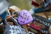 Heart shaped vintage love lock — Stock Photo