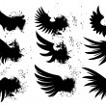 Grunge Wings — Stock Vector