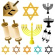 Judaism elements — Stock Vector