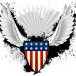 Grunge American Shield — Stock Vector