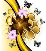 Butterfly banner — Vetor de Stock