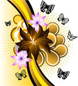 Butterfly banner — Vector de stock