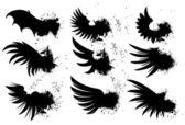 Grunge kanatları — Stok Vektör