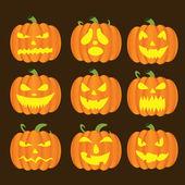 Dynie halloween — Wektor stockowy