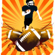 Stock Vector: Football Player