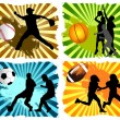 Vecteur: Sports background