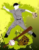Baseball player — Stock Vector