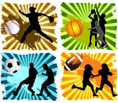 Sports background — Stock Vector